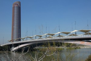 22.Seville II-Puente del Cachorro Crista de la Exparicion and Torre Seville