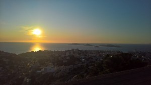 74.Marseille-sunset above Frioul archipelago
