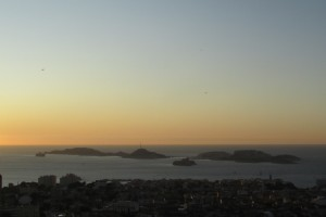 75.Marseille-sunset above Frioul archipelago