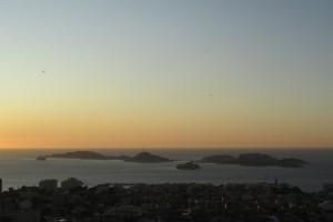 75.Marseille-sunset above Frioul archipelago